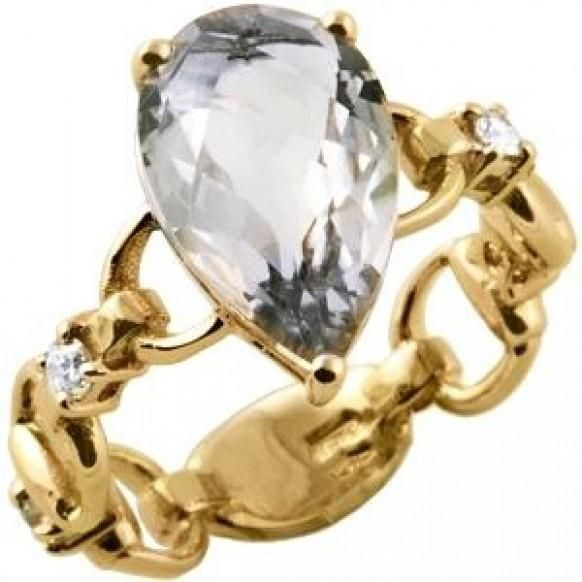 Beautiful Gucci ring champagne topaz stone