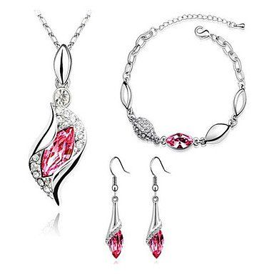 Sieraden set met Oostenrijkse kristal diamant roze! Jewelry set with Austrian crystal diamond ! 39,95 eur, Gratis bezorgd!