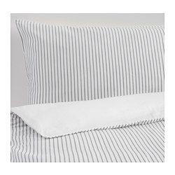 IKEA - RÖDNARV, Bettwäscheset, 2-teilig, 140x200/80x80 cm, , Die Satinwebart verleiht der Baumwolle seidigen Glanz und…