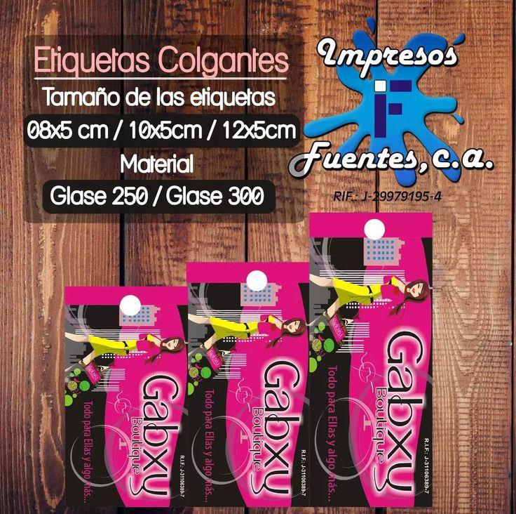 Etiquetas Colgantes Para Ropa - Bs. 16.250,00 en Mercado Libre