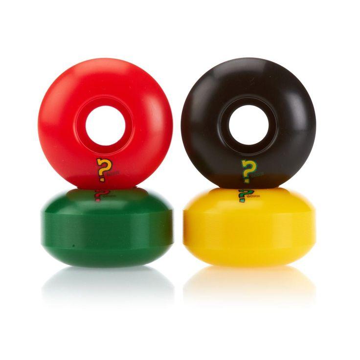 Enuff Skateboard Wheels - Enuff Rasta Refreshers Skateboard Wheels - 53mm