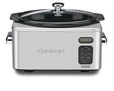 Cuisinart Slow Cooker Programmable 6.5 Quart Stainless Steel Crock Pot PSC-650. (ceramic insert)