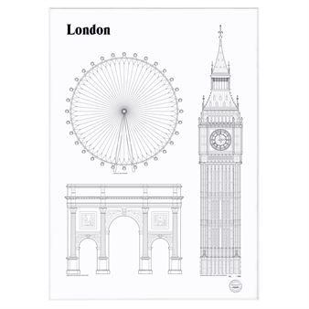 Skapa en stilsäker vägg med Landmarks poster från svenska Studio Esinam. Serien är inspirerad av arkitektur och kända byggnader runt om i…