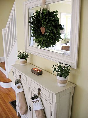 Do over the fireplace. Cozy.Cottage.Cute.: Christmas Decorating