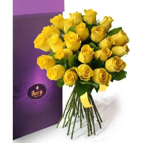 Colectia de Lux - Buchet 23 trandafiri galbeni