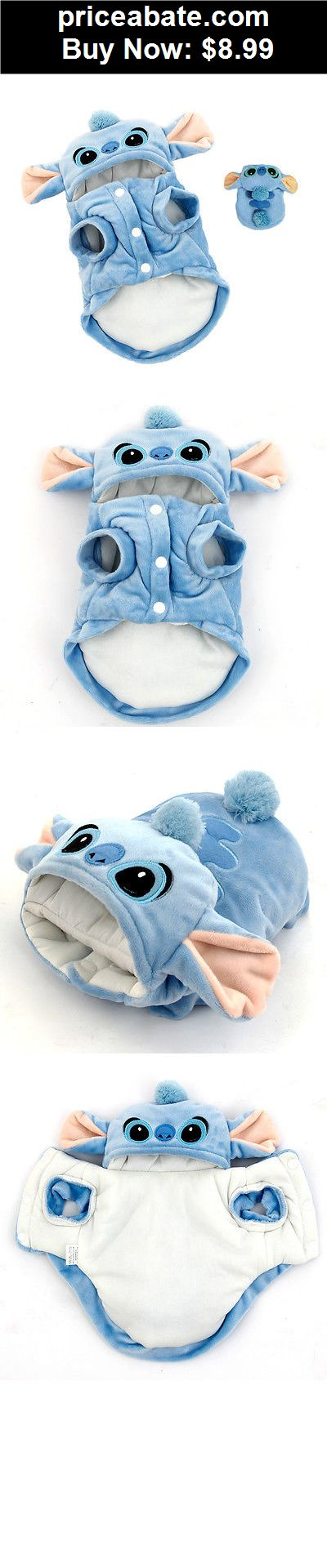 Animals-Dog: Cartoon Stitch Dog Clothes Pet Jacket Coat Puppy Cat Costumes Apparel Winter