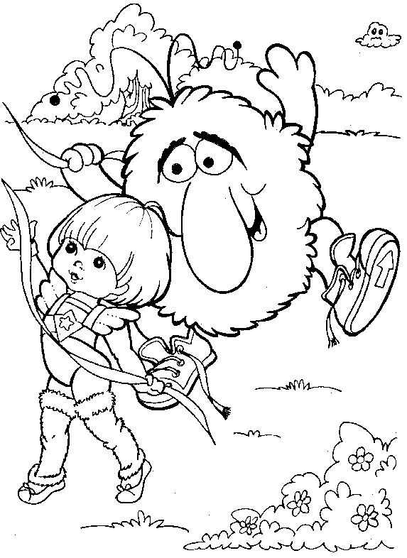rainbow brite 999 coloring pages