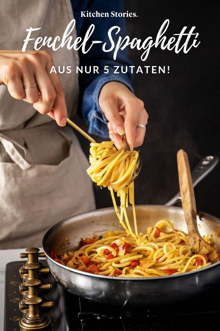 Frische Fenchel-Spaghetti mit 5 Zutaten
