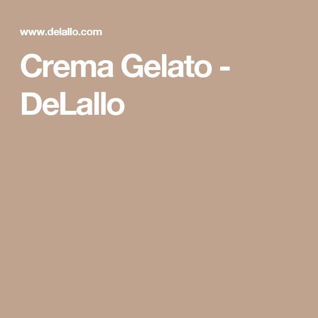 Crema Gelato - DeLallo