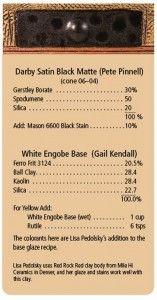 Darby Satin Black Matte - Cone 06-04  and  White Engobe Base