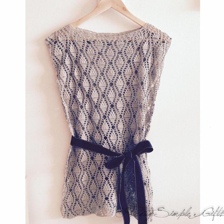 A crochet top by my friend - Pretty Simple Gifts. #crochettop #prettysimplegifts