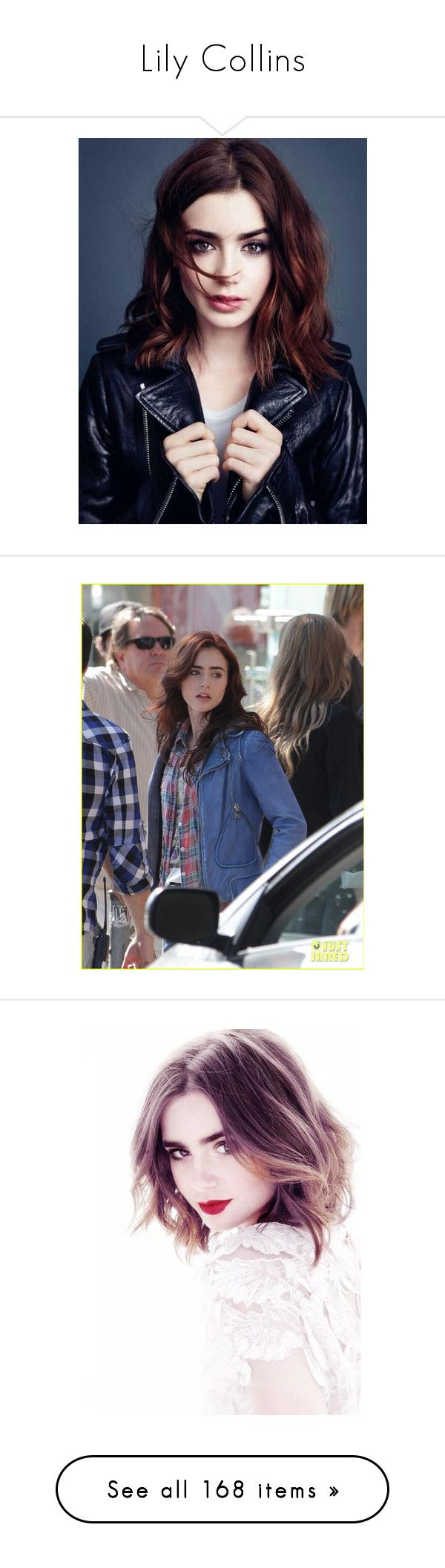 """""""Lily Collins"""" by starlightpa ❤ liked on Polyvore featuring lily collins, people, photos, pictures, clary fray, mortal instruments, hair, girls, lily and people - lily collins"""