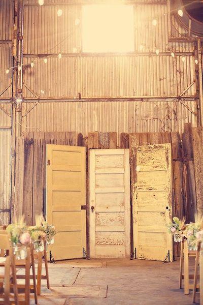 Vintage door decor