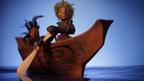 A new music video featuring the music of Kinnie Starr has stop-motion wood carved characters confronting Prime Minister Stephen Harper, depicted on a super tanker travelling around Haida Gwaii.