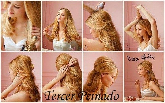 ESTILO, MODA & BELLEZA: Peinados paso a paso, muy lindos y fáciles de hacer