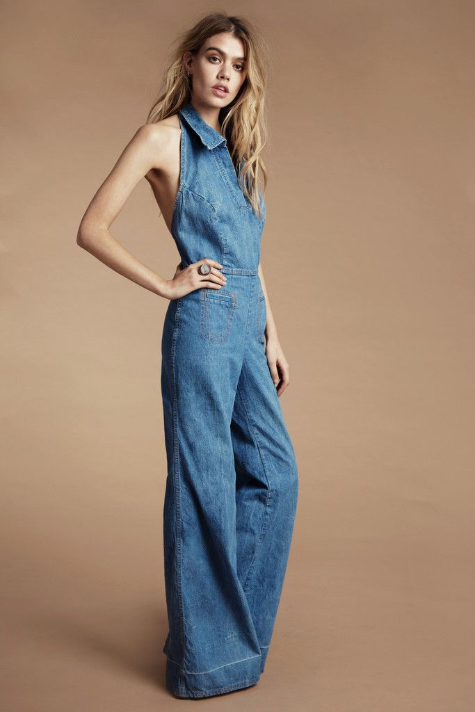 American Hustle 70's Denim Jumpsuit