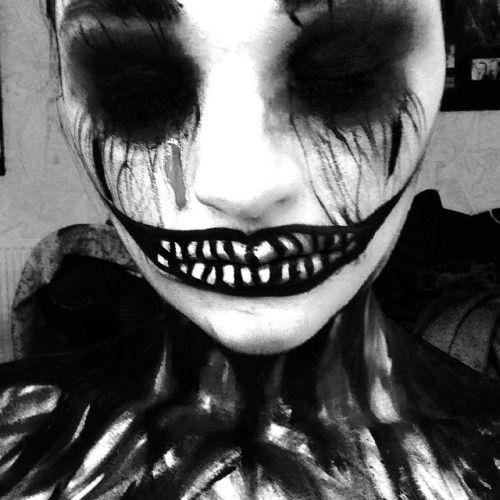 Black and white evil clown