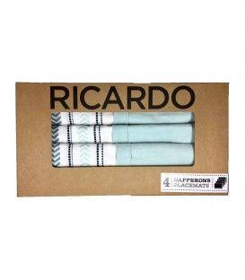 Ensemble de 4 napperons avec pochette RICARDO