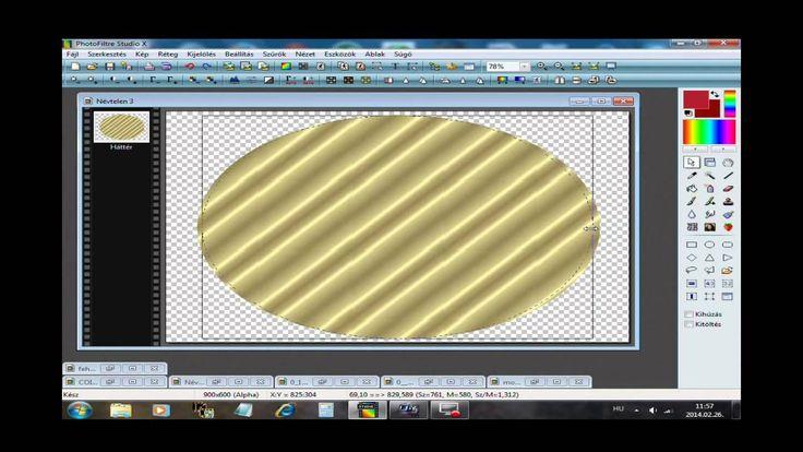 Aranykeret készitése PhotoFiltre Studio X