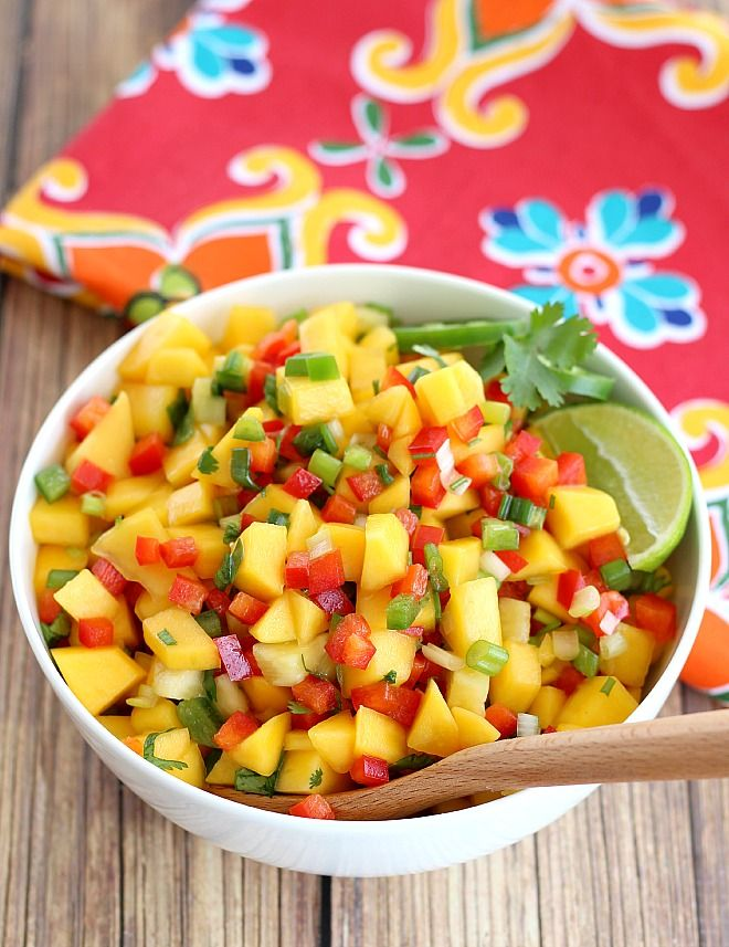 Fresh mango salsa recipe bar tables taco bar and the for Suggestions for sides for fish tacos