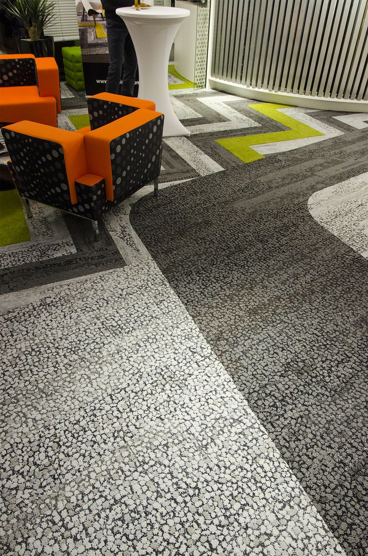 Collection Human Nature in Prague´s showroom. David Oakey, skinny planks, carpet tiles, design, architects