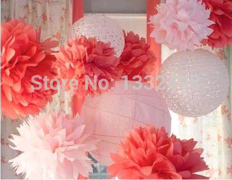 350 Шт. 16 40 СМ Оберточной Бумаги Пом Англичане Сотовые Мячи Бумажные Цветы Свадебные Украшения Цветок Пом Англичане 30 Имеющихся Цветов