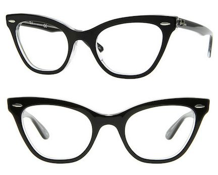 Black cat-eyes - Ray-Ban at FramesDirect, $144 | 19 Essential Statement-Making Glasses Frames