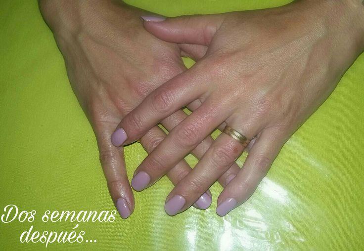 Esmaltado semipermanente ,dos semanas después. .. #nails 💅