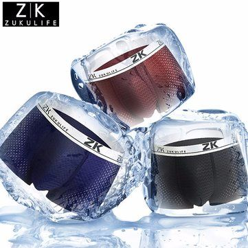 ZK Plus Size Mens Antibacterial Breathable Mesh U convex Pouch Boxers Casual Underwear Online - NewChic Mobile.