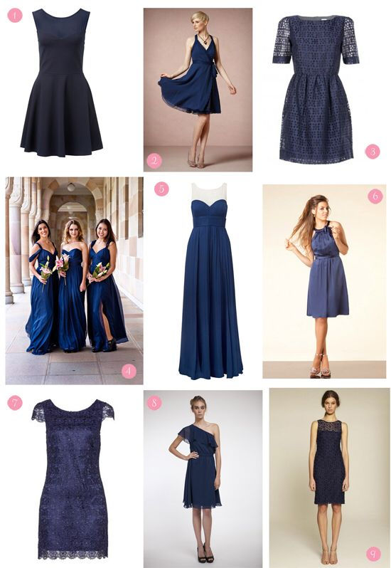 Bild från http://cdn.polkadotbride.com/wp-content/uploads/2013/04/navy-bridesmaid-dresses-copy.jpg.
