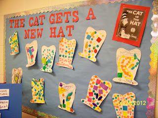 the cat gets a new hat...Dr. Seuss activity!