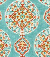 Home decor print fabric-dena chevron charade capri