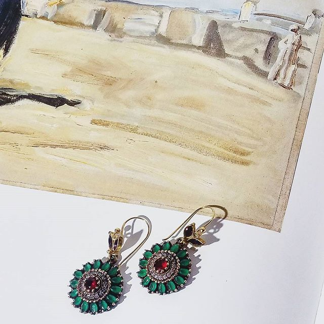 Aylin rosette earrings