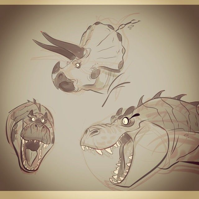 Some rough Dino heads   ★ || CHARACTER DESIGN REFERENCES (https://www.facebook.com/CharacterDesignReferences & https://www.pinterest.com/characterdesigh) • Love Character Design? Join the #CDChallenge (link→ https://www.facebook.com/groups/CharacterDesignChallenge) Share your unique vision of a theme, promote your art in a community of over 40.000 artists! || ★