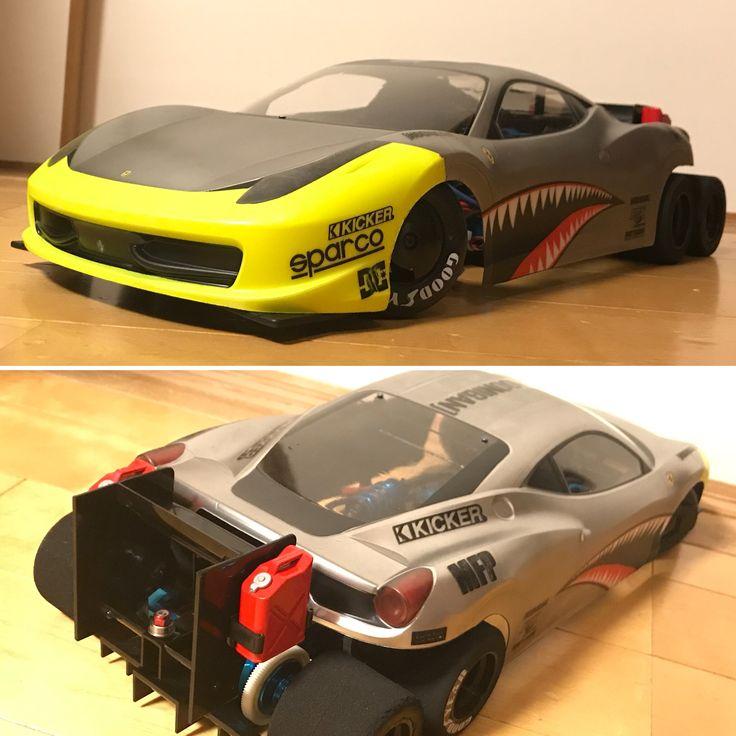 tamiya f104 6x4 Ferrari 458 towing vehicle