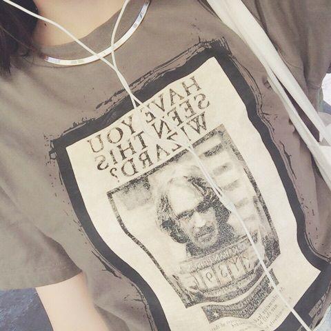 昨日は、金曜ロードショーでハリーポッター見てました。 やっぱり最高ですね。  余韻でシリウスのTシャツできました!