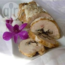 Rolled Chicken Breast with Mushrooms