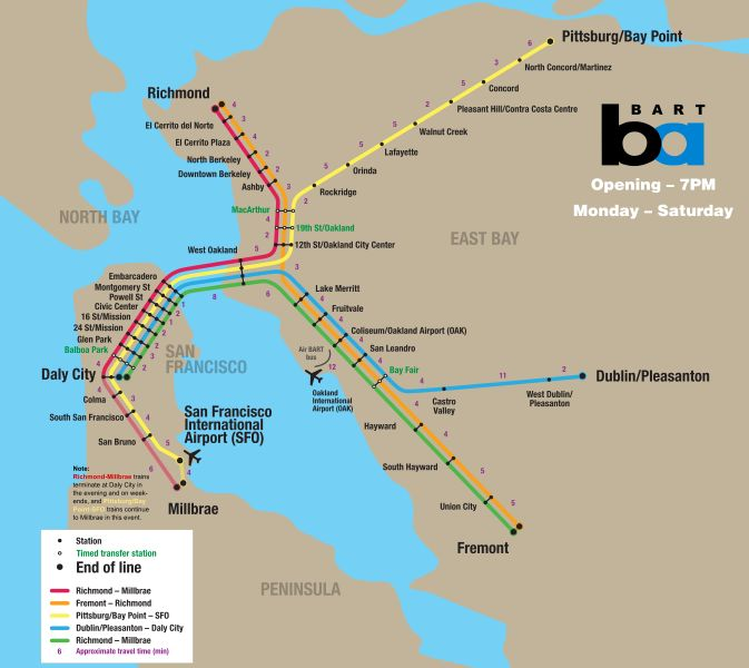 The BART Map, to Scale | Maps & Infographics | Pinterest | Map ...