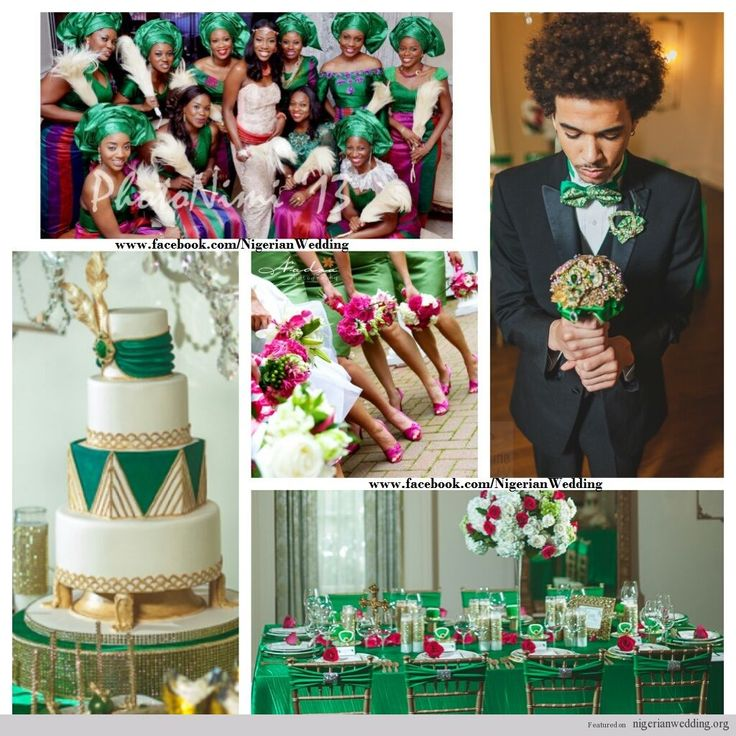 Green And Gold Wedding Decorations: 63 Best Images About Nigerian Wedding Color Schemes
