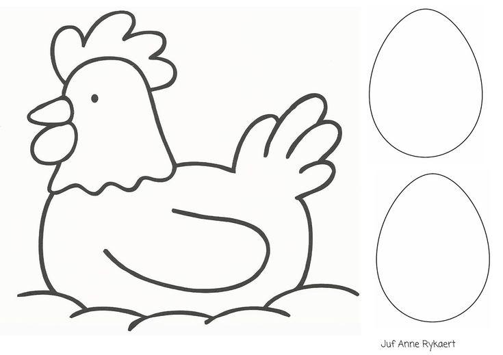 Kippen en eiren (zelf motief geven)
