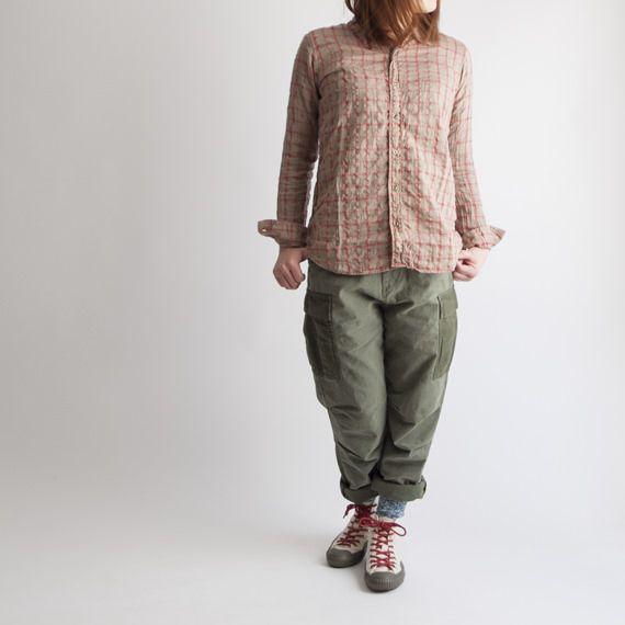 Johnbull[ジョンブル] シャーリングチェックシャツ as789
