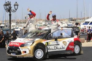 Mads And Jonas Showing off after WRC SARDINIA 2014