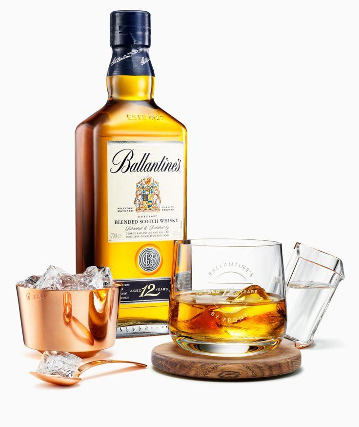 front: ballance drinking set for ballantine's whisky - designboom | architecture & design magazine