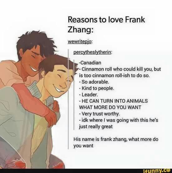 Frank is so amazing; or should I say amaZHANG