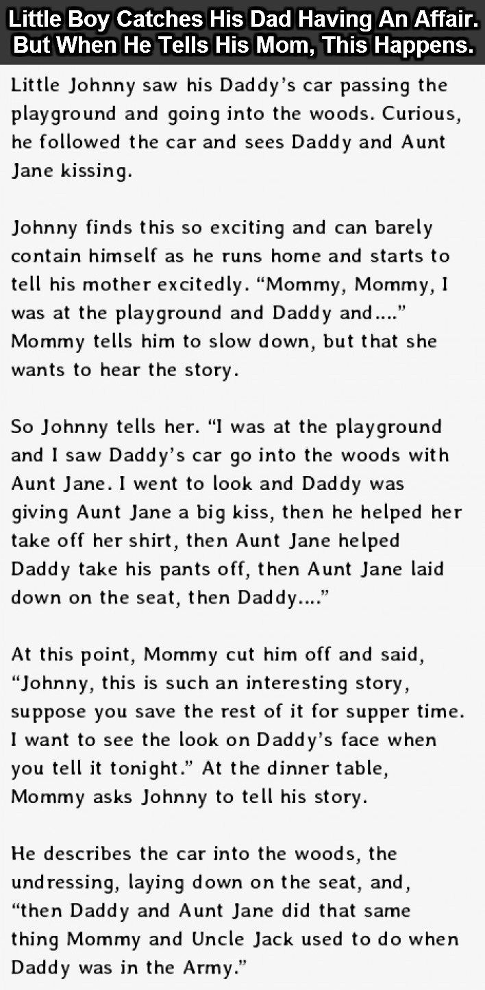 Uncategorized Lil Johnny Jokes 47 best funny stories images on pinterest haha beautiful and little boy catches his dad having an affair but when he tells mom