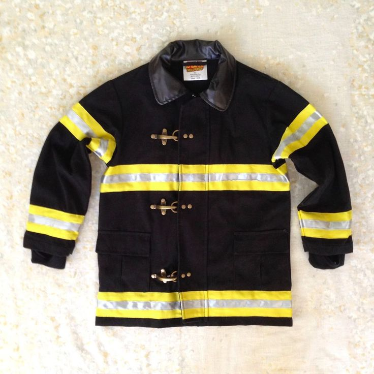 Get Real Gear Child Sz 4-6 Firefighter Jacket Costume Pretend Play Dress Up Kids #GetRealGear