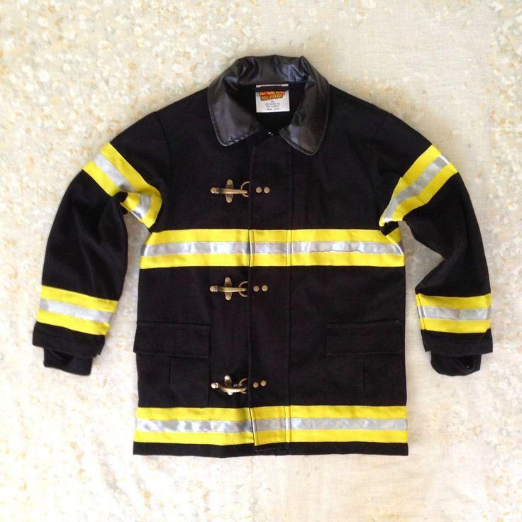 Get Real Gear Child Sz 4-6 Firefighter Jacket Costume Pretend Play Dress Up Kids #GetRealGear