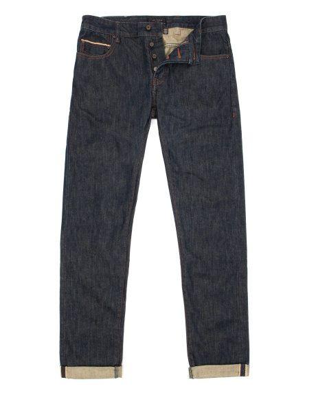 Slim fit selvedge jean - Rinse Denim | Jeans & Pants | Ted Baker