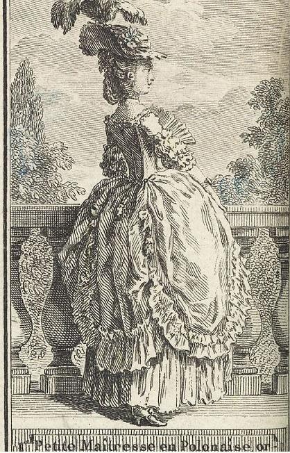 1781 Petite maitresse en polonaise