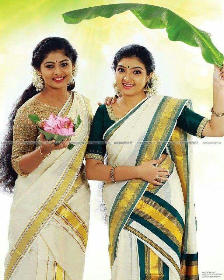 Easy Ladies Hairstyles In Kerala: 168 Best Kerala Ethnic Wear Images On Pinterest
